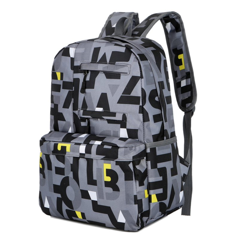 New HongJing Fashion Matching Color Large Space Backpack