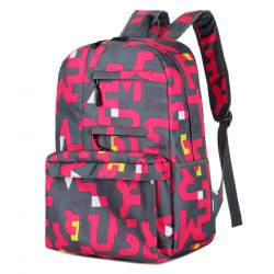 HongJing Fashion Matching Color Large Space Backpack -