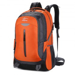 Hongjing New Stylish Multiple Zipper Casual Sporting Backpack -