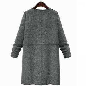 Autumn and Winter and The Wind Womens MM Fat Thin Wool Coat -