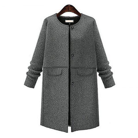 Sale Autumn and Winter and The Wind Womens MM Fat Thin Wool Coat