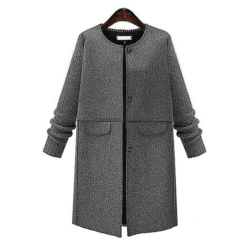 Discount Autumn and Winter and The Wind Womens MM Fat Thin Wool Coat
