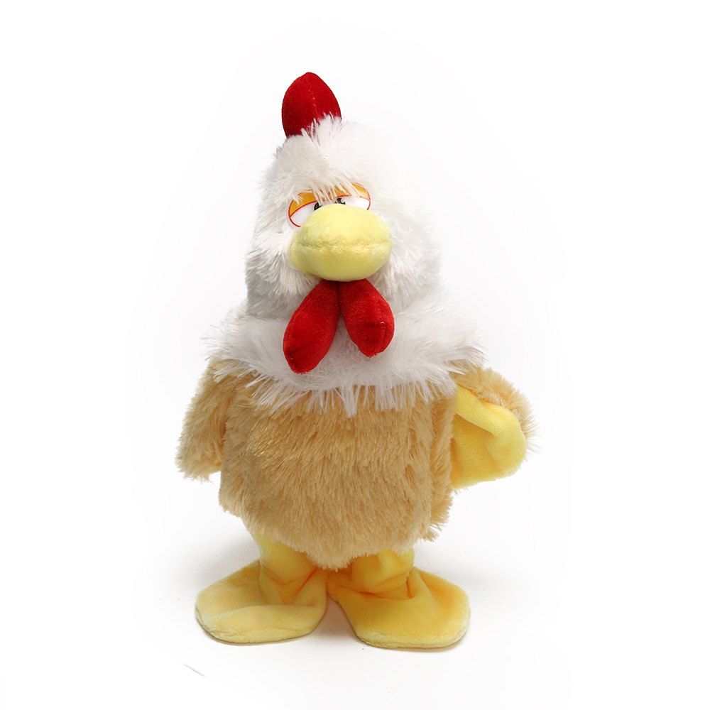 Discount Electric Plush Toys For Baby Crazy Screeching Singing Walking Stuffed Animals Happy Chicken