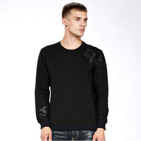 Cheap Men's Sweatshirt Casual Print All Match Long Sleeve Sweatshirt