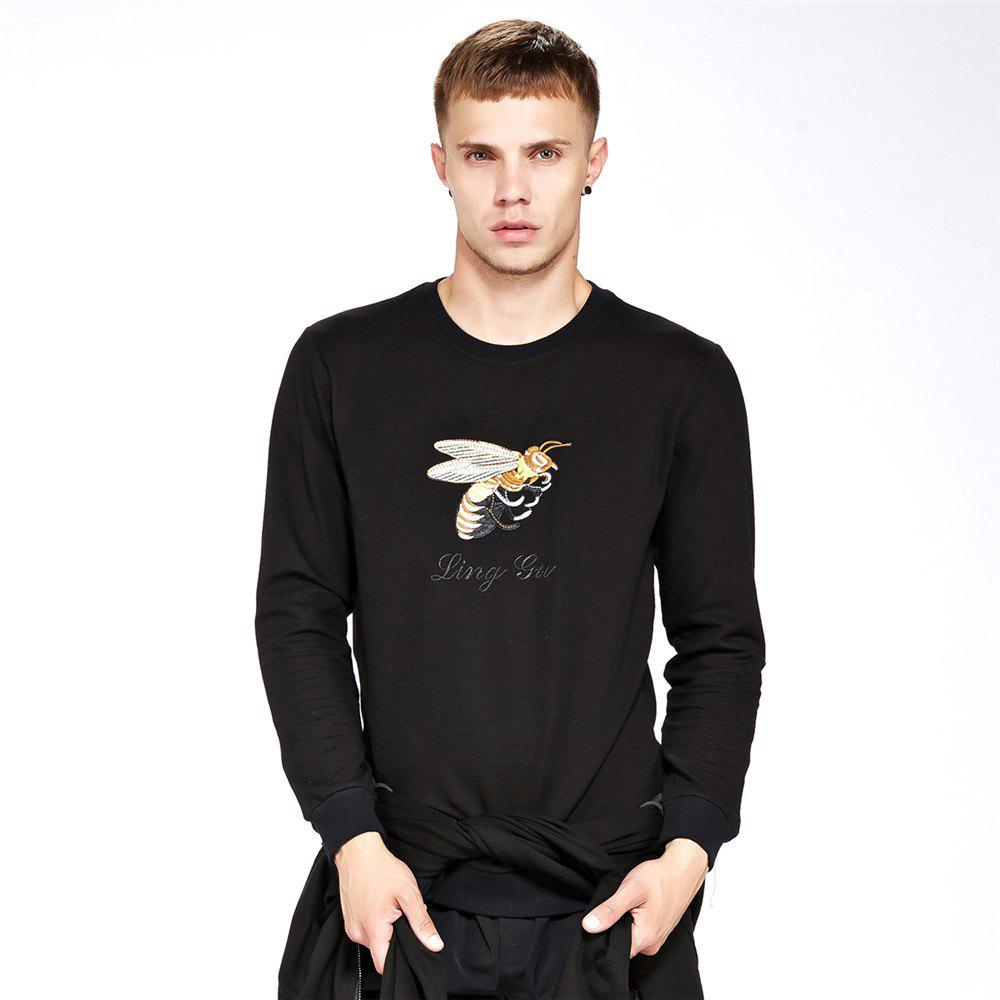 Sale Men's Sweatshirt Casual Embroidery Chic All Match Sweatshirt