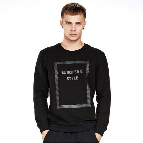 Latest Men's Sweatshirt Casual Letter Print Comfy All Match Long Sleeve Sweatshirt