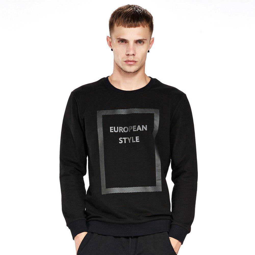Fashion Men's Sweatshirt Casual Letter Print Comfy All Match Long Sleeve Sweatshirt