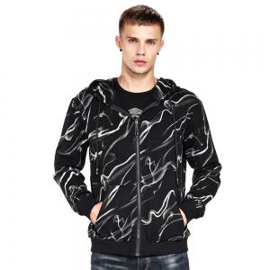 Men's Hoodie Casual Fashion Color Block Print All Match Long Sleeve Hoodie -