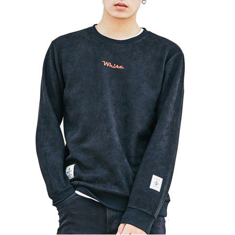 Outfit Men's Sweatshirt O Neck Long Sleeve Embroidery Loose Pullover