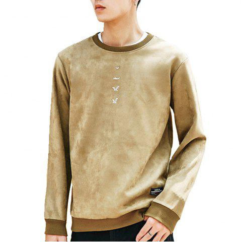 Unique Men's Sweatshirt O Neck Long Sleeve Embroidery Loose Pullover