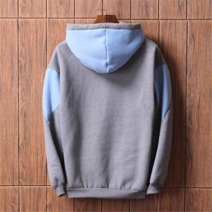 Men's  Loose Patchwork All Match Hoodie -