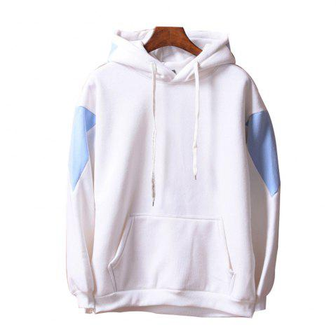New Men's  Loose Patchwork All Match Hoodie