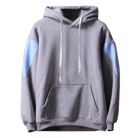 Cheap Men's  Loose Patchwork All Match Hoodie