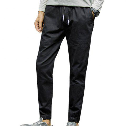 Trendy Men's Casual Pants Solid Color Comfy All Match Fashion Pants