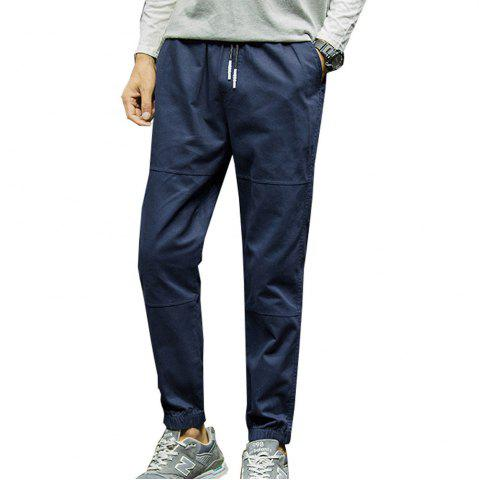 Outfit Men's Casual Pants Solid Color Comfy All Match Fashion Pants