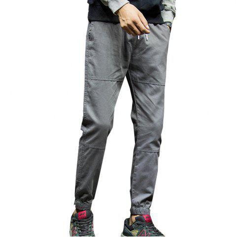 Chic Men's Casual Pants Solid Color Comfy All Match Fashion Pants