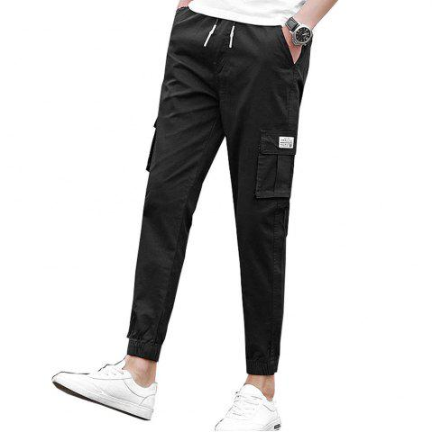 Outfit Men's Casual Pants Comfy Solid Color All Match Pants