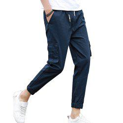 Men's Casual Pants Comfy Solid Color All Match Pants -