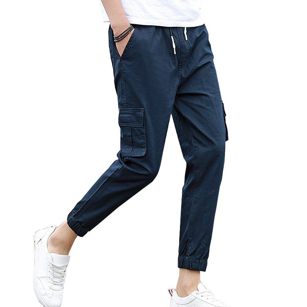 Shop Men's Casual Pants Comfy Solid Color All Match Pants