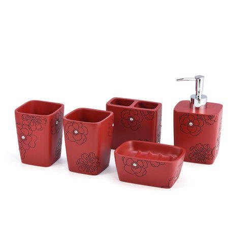 Sale Bathroom Accessories Set Soap Lotion Toothbrush Holder Cup 5 pcs