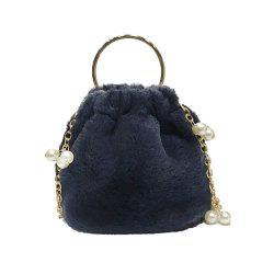 Cute Bucket Bag Beads Handbag Shoulder Messenger Bag -