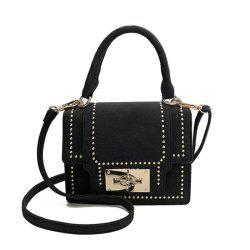New Stylish Rivet Shoulder Messenger Small Square Bag -
