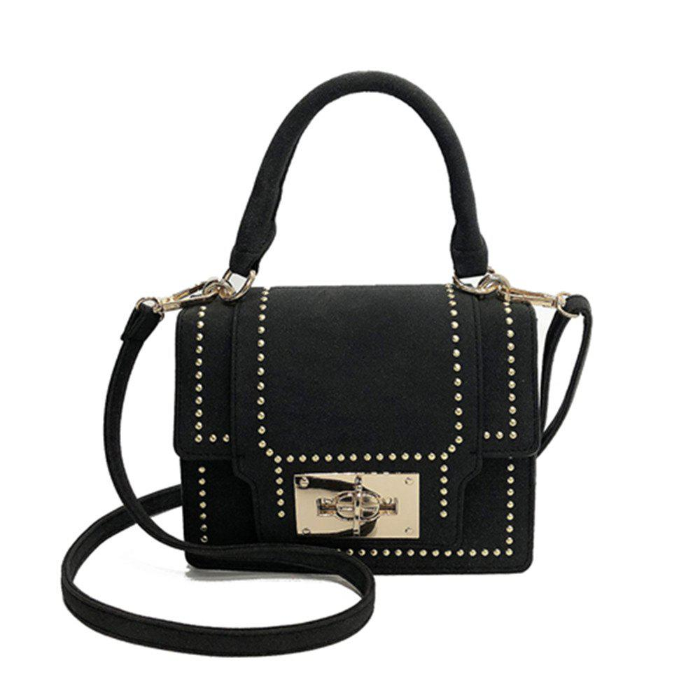 Trendy New Stylish Rivet Shoulder Messenger Small Square Bag