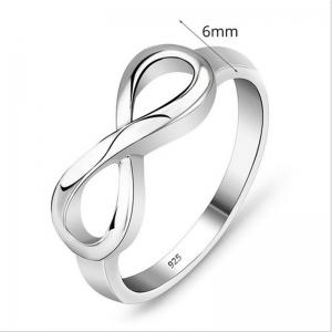 Fashion Delicate Silver Lucky Eight Word Lady Ring -