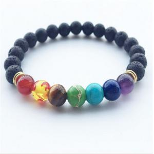 Transhipped Pearl River Seven Color Crystal Bracelet Yoga Energy Chain Fashion Ornaments -
