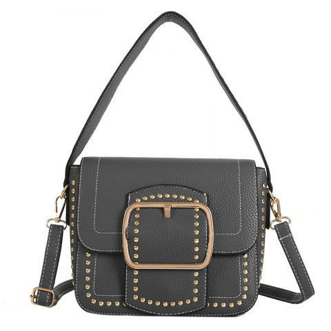 Store Wide Shoulder Rivet Bag Female 2018 New Handbag with A Single Shoulder Bag Trend Fashion