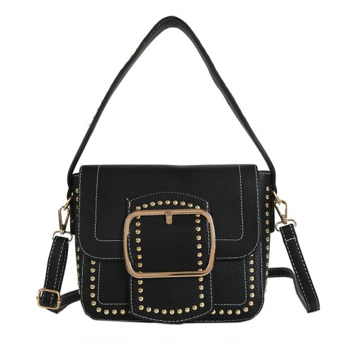 Chic Wide Shoulder Rivet Bag Female 2018 New Handbag with A Single Shoulder Bag Trend Fashion