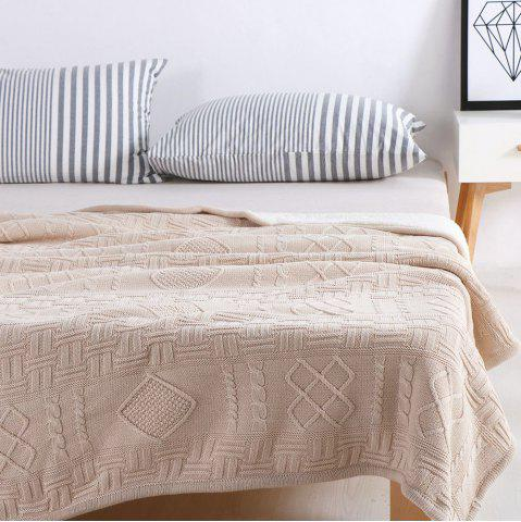 Cheap New Products With Thick Warm Cotton Knitted Wool Casual Blankets