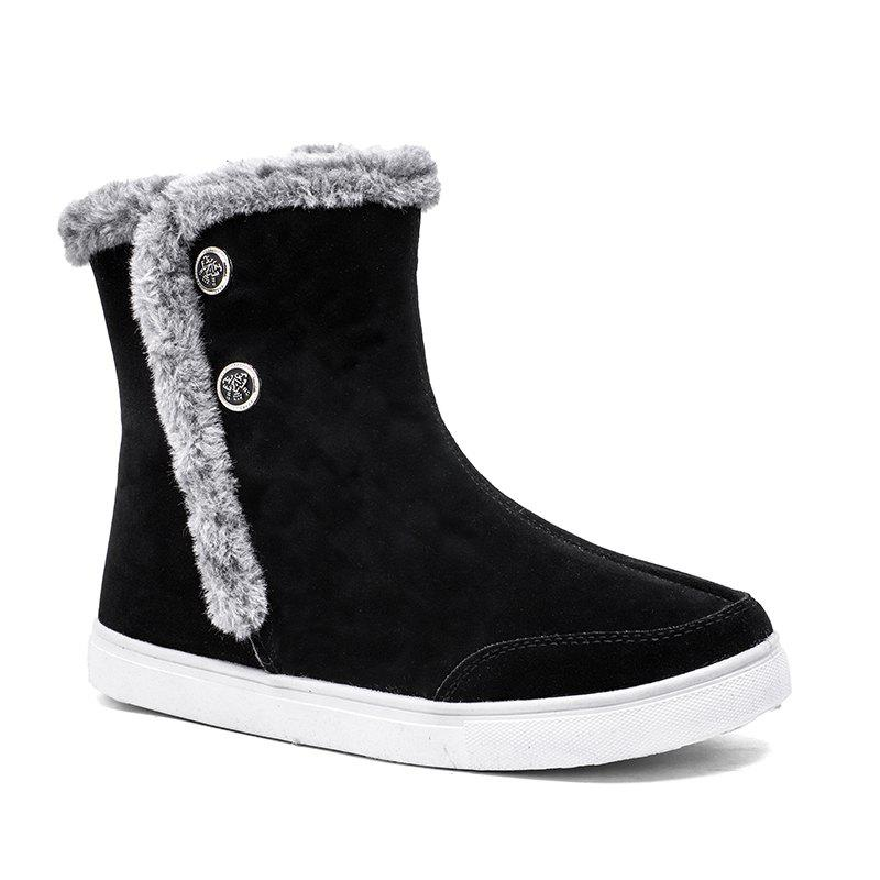 Chic Autumn and Winter High-Top Fashion Snow Boots for Men