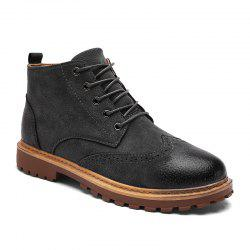 Fall and Winter Retro Casual Fashion Men'S High Boots Martin -