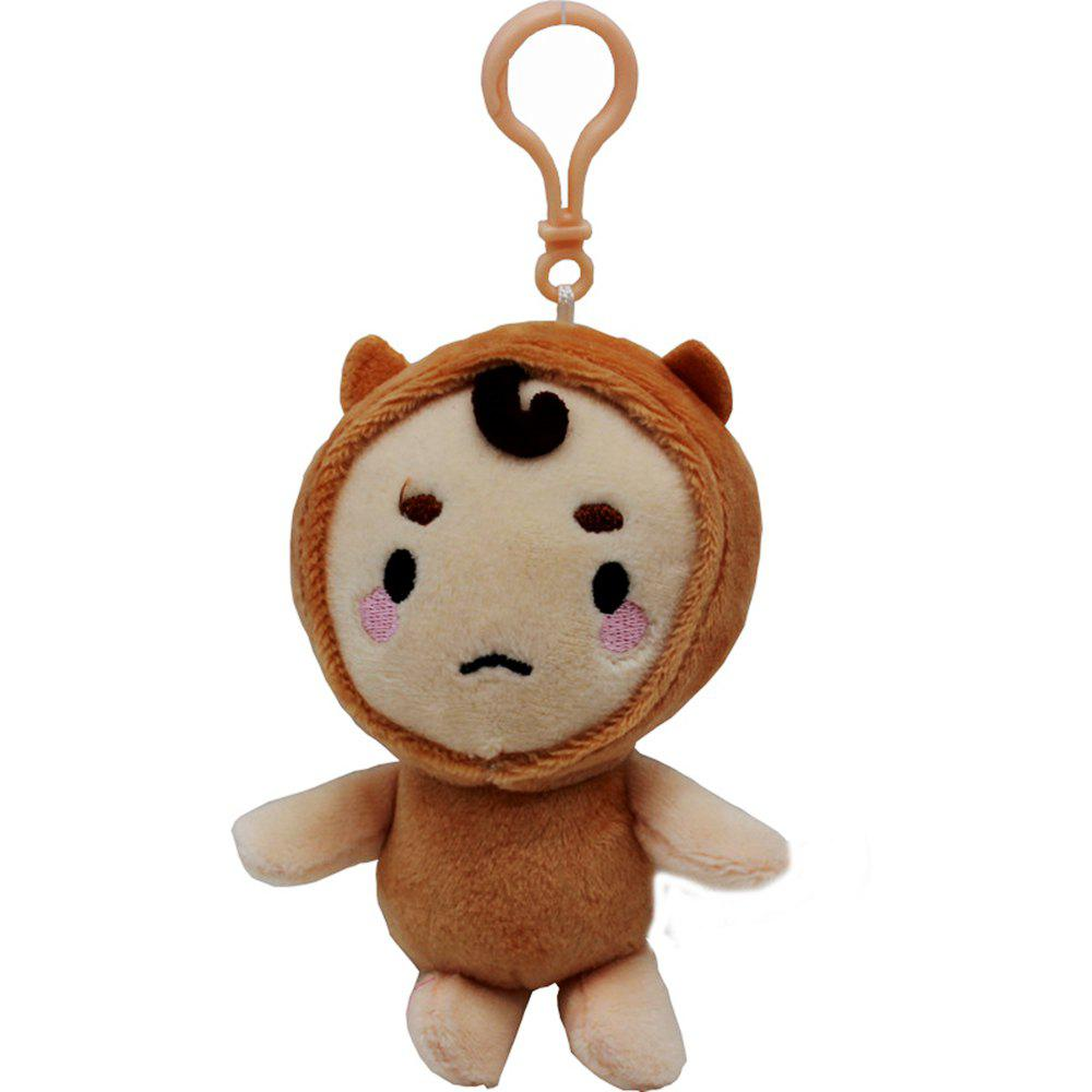 Trendy 10CM Cartoon Compact Super Soft Plush Doll