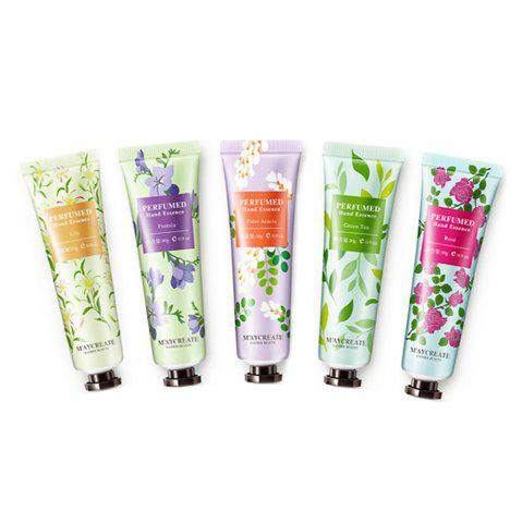 Hot 5pcs Hand Cream Deep Nourish Moisture Refreshing Fruit Smell Hand Care
