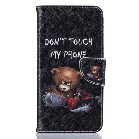 Unique Bear Pattern Luxury Style PU Leather Mobile Phone Case Flip Cover for iPhone 6 Plus / 6s Plus