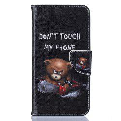 Bear Pattern Luxury Style PU Leather Mobile Phone Case Flip Cover for iPhone 6 Plus / 6s Plus -