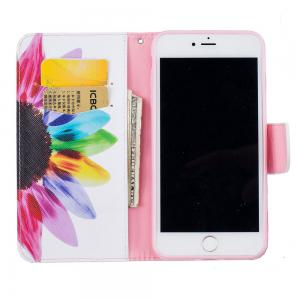 Sunflower Pattern Luxury Style PU Leather Mobile Phone Case Flip Cover for iPhone 6 Plus / 6s Plus -