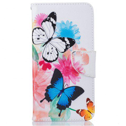 Fancy Butterfly  Pattern Luxury Style PU Leather Mobile Phone Case Flip Cover for iPhone 6 Plus / 6s Plus