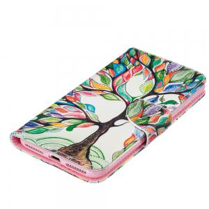 Energy Tree Pattern Luxury Style PU Leather Mobile Phone Case Flip Cover for iPhone 6 Plus / 6s Plus -