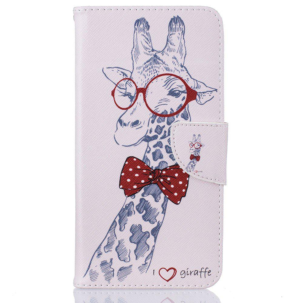 Chic Giraffe Pattern Luxury Style PU Leather Mobile Phone Case Flip Cover for iPhone 6 Plus / 6s Plus