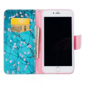 Plum Blossom Pattern Luxury Style PU Leather Mobile Phone Case Flip Cover for iPhone 6 / 6s -