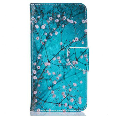 Best Plum Blossom Pattern Luxury Style PU Leather Mobile Phone Case Flip Cover for iPhone 6 / 6s