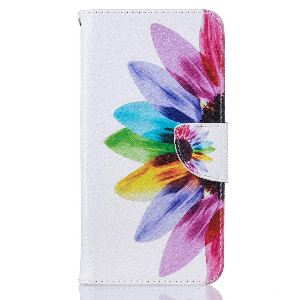Chic Sunflower Pattern Luxury Style PU Leather Mobile Phone Case Flip Cover for iPhone 6 / 6s