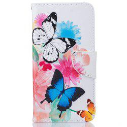 Butterfly Pattern Luxury Style PU Leather Mobile Phone Case Flip Cover for iPhone 6 / 6s -