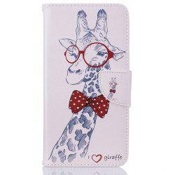 Giraffe Pattern Luxury Style PU Leather Mobile Phone Case Flip Cover for iPhone 6 / 6s -