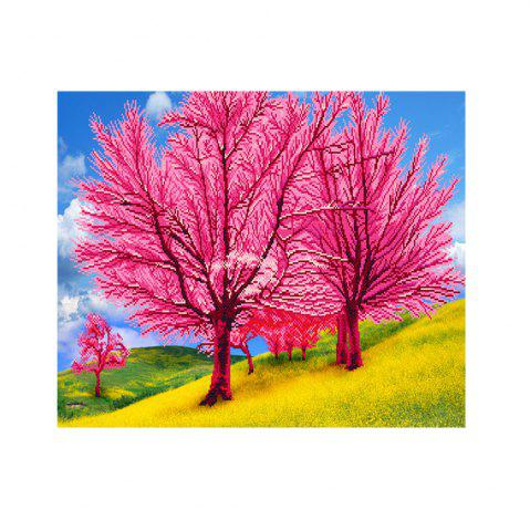 Fancy Naiyue 7221 Romantic Flower Trees Print Draw Diamond Drawing