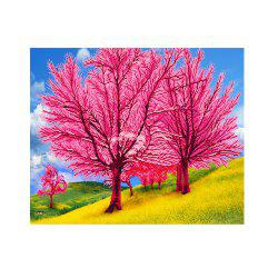Naiyue 7221 Romantic Flower Trees Print Draw Diamond Drawing -