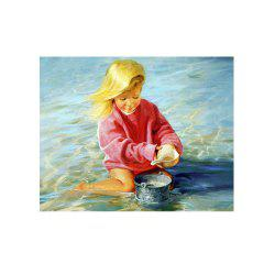 Naiyue 7222 Seaside Childhood Print Draw Diamond Drawing -
